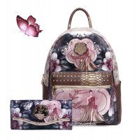 "Bronze Arosa ""Queen Lady"" Backpacks & Wallet - BGB8318-BGW8682"