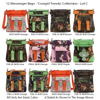 12 Messenger Bags 'Cowgirl Trendy' Collection - Lot C