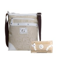 White G-Style Messenger Bag with Wallet - KE1527-311