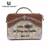 Stone 'Cowgirl Trendy' Bible Cover Case - CSB4 455