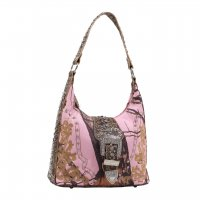 Tan Western Mossy Oak Camo Hobo Handbag - MT1-40019P
