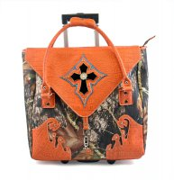 Orange Camouflage Cross Rollie Tote - G1255 ORANGE