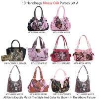 10 Handbags - Mossy Oak & Real Tree Collection Lot A