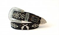 8-Pack Gold DG Rhinestone Studded Belt - PTG105 BOX