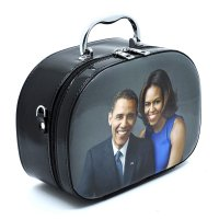 Black Michelle Obama Magazine Cover Cosmetic Case - PC0086-1
