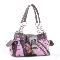 Coffee Mossy Pine Camo Buckle Western Handbag - MT1-51747B