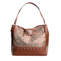 Brown Signature Style Wholesale Tote Handbag - K1535