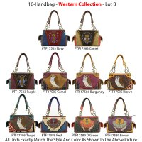 10 Handbags Western Collection - Lot B