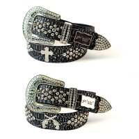 7-Pack CR & DG Rhinestone Studded Belt Close Out - PTG107 SIZE-S