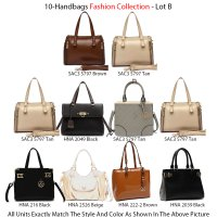 10 Handbags Fashion Collection - Lot B