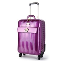 Purple Floral Accent Carry-On Luggage - KDL8899