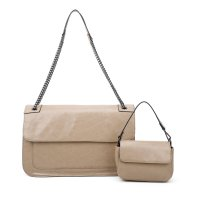 APRICOT 2IN1 V-STITCHED MODERN SHOULDER BAG SET