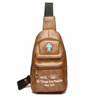 "Camel "" With God All Things Are Possible"" Backpack - BCU 5656"
