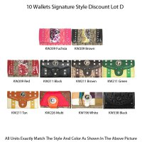10 Wallets Economy Lot - D