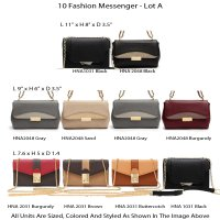 10 Fashion Messenger Bags Lot A