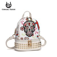 White Cowgirl Trendy 2 Compartment Small Backpack - SKU11 5449S