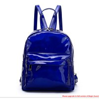 R.Blue Hologram Zip Back Pack with Rainbow Zipper - HAR2 5686