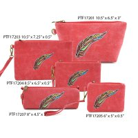 Fuchsia Travel Makeup Wallet Pouch Bag Close Out - 5 piece Set