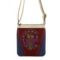 Navy Western Cowgirl Trendy Messenger Bag - PTF17582