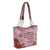 Brown 'Joshua 1:9' Bible Verse Western Handbag - HOH 5166