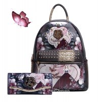 "Black Arosa ""Queen Lady"" Backpacks & Wallet - BGB8318-BGW8682"