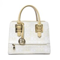 White LOEM Signature Top Handle Structured Handbag - LT-674S