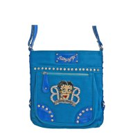 Blue Betty Boop Oversized Messenger Bag - B15A361
