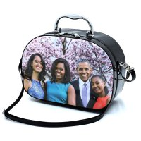 Purple Michelle Obama Magazine Cover Cosmetic Case - PC0086-5