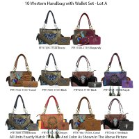 10 Handbag Sets Premium Western Cowgirl Collection - Lot A