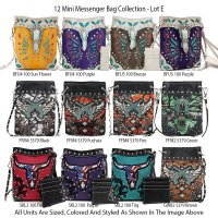 12 Western Cowgirl Trendy Messenger Bags - Lot E