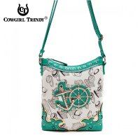 Aqua Anchor N Rudder Western Messenger Bag - SEA 4699