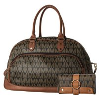 Coffee 2IN1 Extra Large Signature Inspired Duffle Bag Set- M58