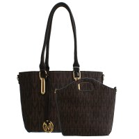 Brown Milan Satchel Designer Signature 2-PCs Satchel - BM3350