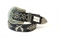 8-Pack Silver DG Rhinestone Studded Belt - PTG107 BOX