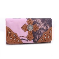 Brown 'Mossy Pine' Tri-Fold Wallet - MT1-W0346 MP/BR