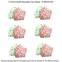 12-Pack Adult Reusable Face Mask - H-MASK-001