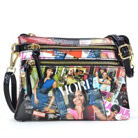 Black Michelle Obama Magazine Printed Messenger Bag - OB6052