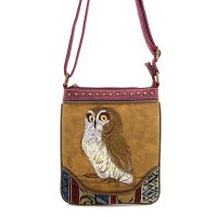 Camel Western Cowgirl Trendy Messenger Bag - PTF17585
