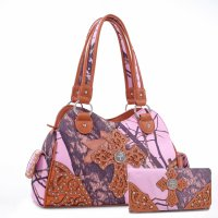 Brown 'Mossy Pine' Handbag with Wallet - MT1-40022P-W0346 MP
