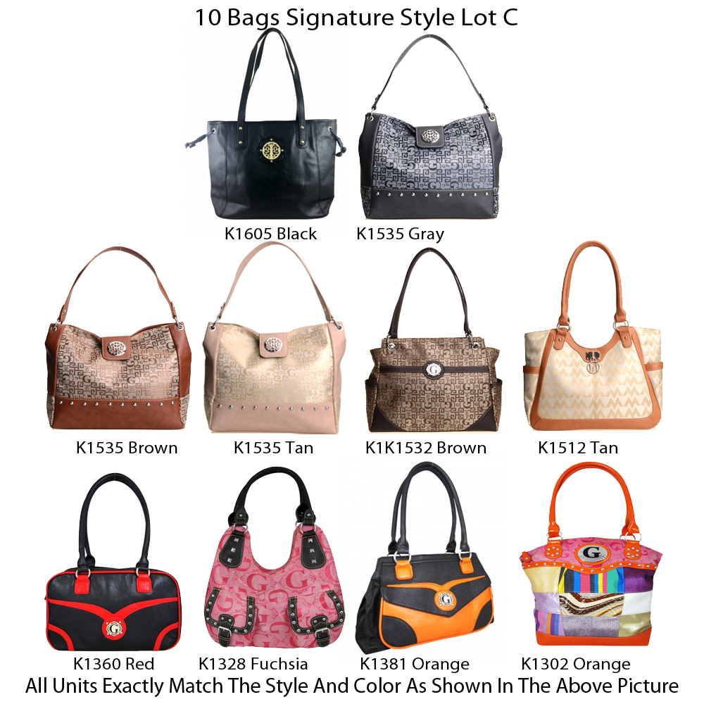 10 Handbags - G & M Style - Lot C - Click Image to Close