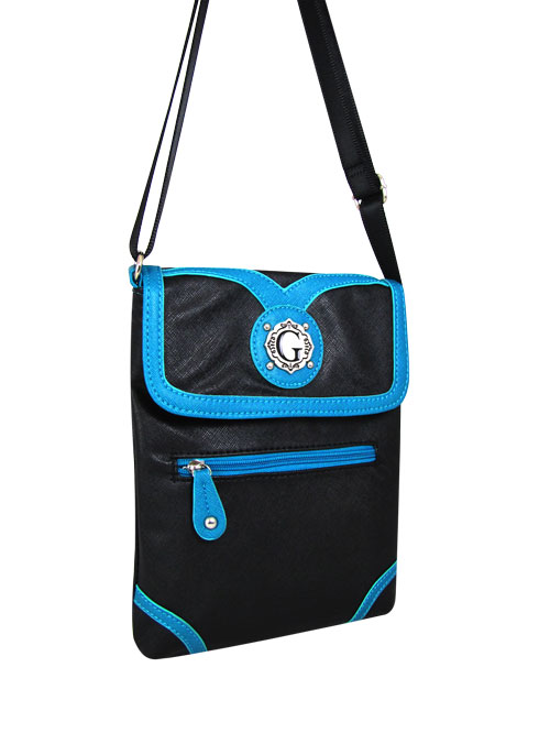 Turquoise Signature Style Messenger Bag - KE1361 - Click Image to Close