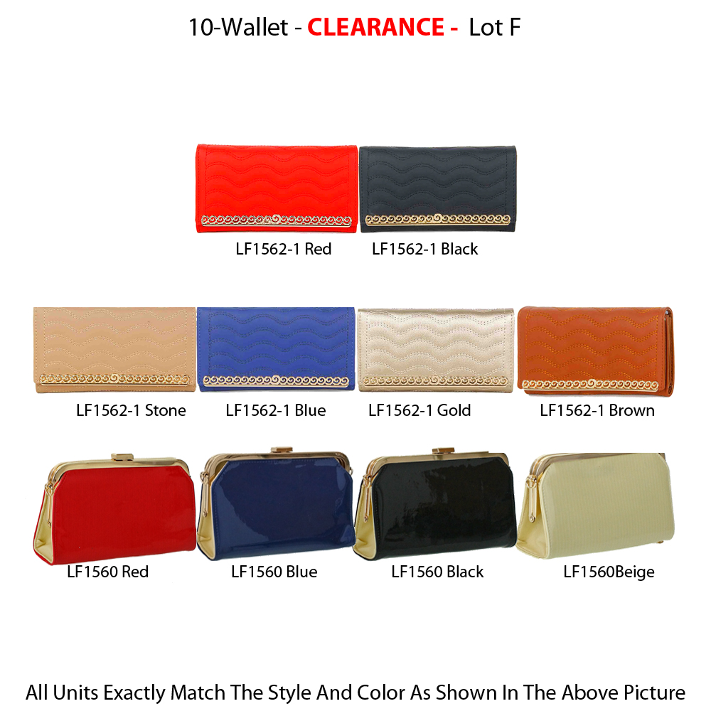 10 Wallets Fashion Style Clearance Lot F - Click Image to Close