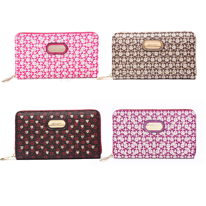 Twinkle Crystal Multipocket Zippered Wallet - RLW8368 - Click Image to Close